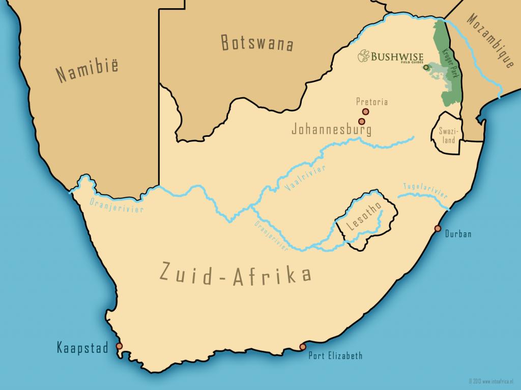 Zuid-Afrika kaart