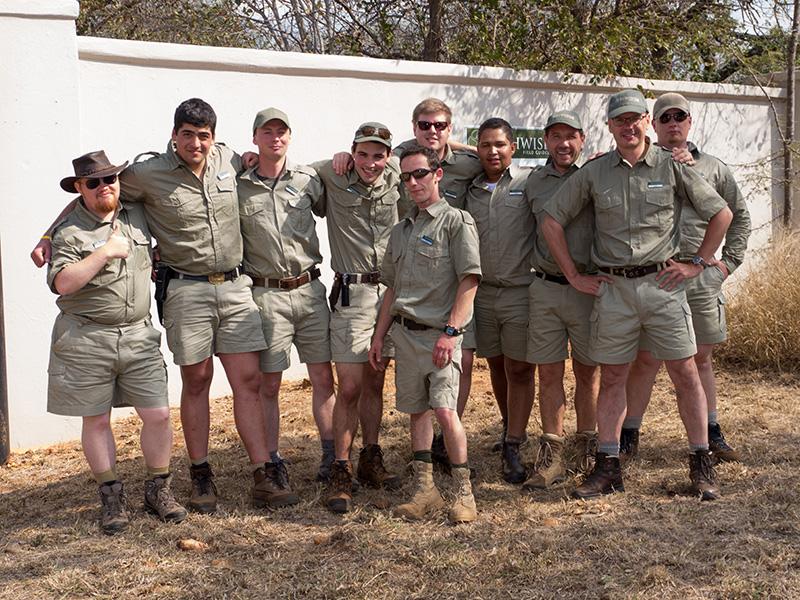 De mannen van onze groep, vlnr: Ash, Shawn, James (mijn kamergenoot), Vic (vooraan), Andy, Lawrence, Ben, ik en Sean.