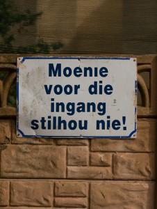 Moenie!
