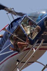 ... en de fly-by waarbij ze de Field Guides in opleiding gelijk even tellen.