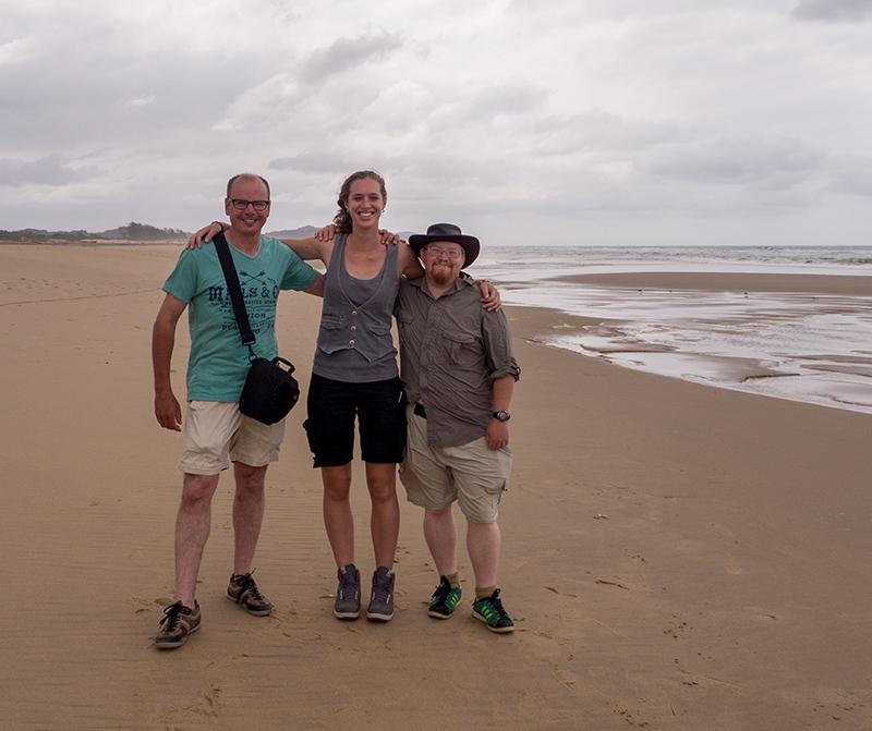 Ik, Mayra en Ash aan de Indische Oceaan