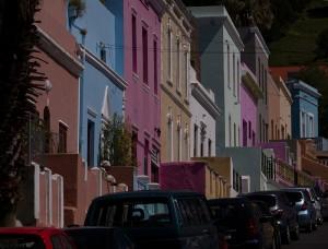 Felgekleurde huizen in Bo-Kaap