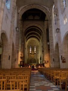 De kerk in het centrum van Kaapstad