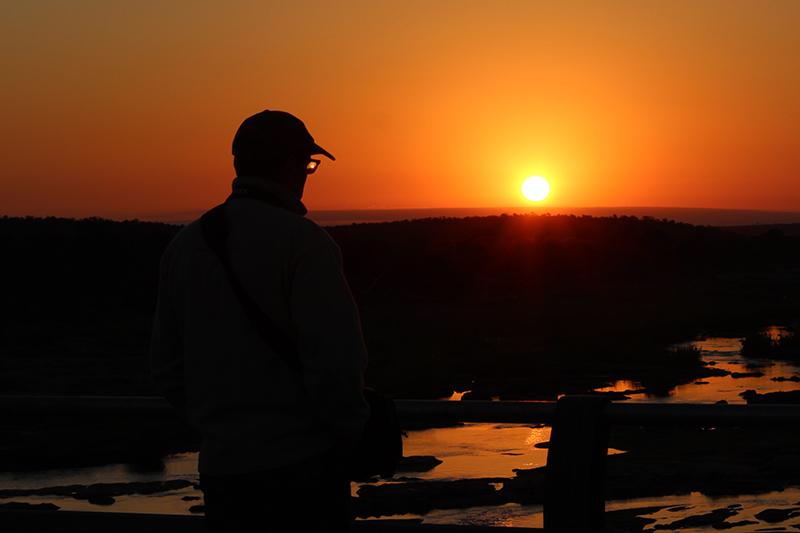 Bij het uitzoeken van zijn foto's kwam Vic er nog eentje tegen die hij van mij in Kruger Park had genomen tijdens de eerste off-week (lijkt alweer een eeuwigheid geleden)