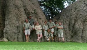 V.l.n.r.: Ben, Conraad, Hayley, Vic, Tina, Shawn, ik en Ash. Foto: Cobus Spies