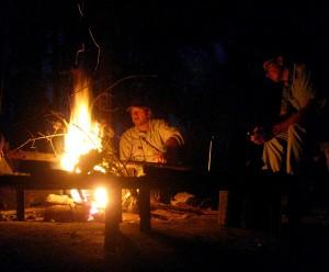 Ben en ik bij het vuur