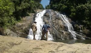 David en Cobus voor de Debegeni Falls