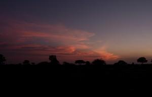 ... met uitzicht op een mooie zonsopkomst